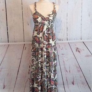 Tommy Hilfiger Boho Paisley Print Long Maxi Dress